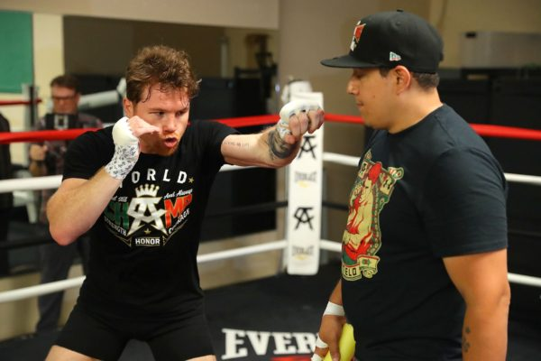 Canelo claims to have the key to defeat Golovkin. Photo: Tom Hogan, Golden Boy Promotion.