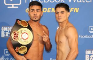 Rojas makes weight; JoJo Diaz misses. Photo: Marcelino Castillo.