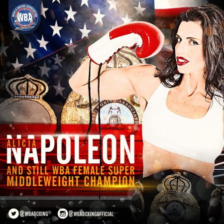 Alicia Napoleon Retains WBA Super Middleweight Title.