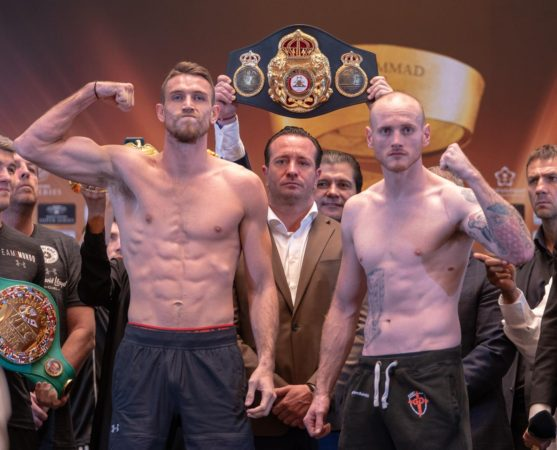 Groves and Smith make weight for super title fight