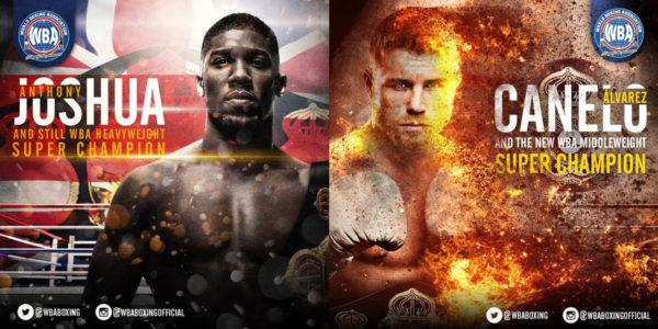 Saul Alvarez / Anthony Joshua - Boxers of the month September 2018