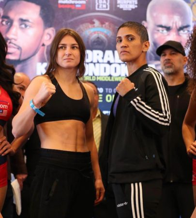 Taylor and Serrano make weight for WBA title clash