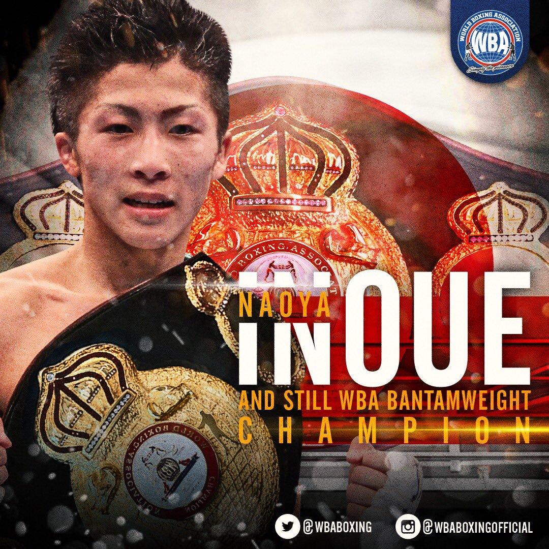 Naoya Inoue WBA World Bantamweight Champion