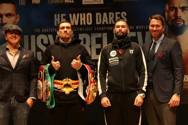 Usyk y Bellew prometen batalla épica