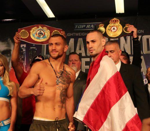 Lomachenko y Pedraza cumplen pesaje en Nueva York