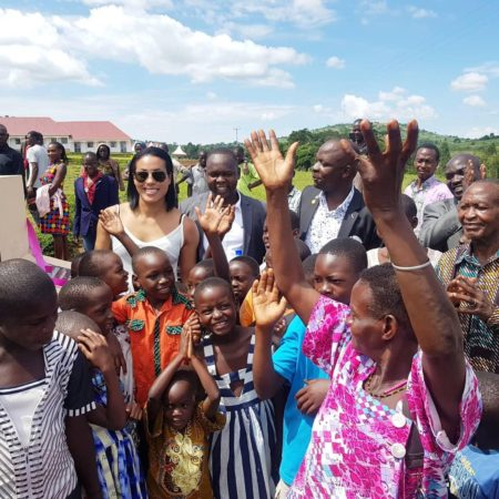 Cecilia Braekhus visits Uganda for school opening
