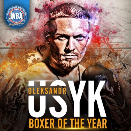 Oleksandr Usyk, el boxeador del Año en la AMB