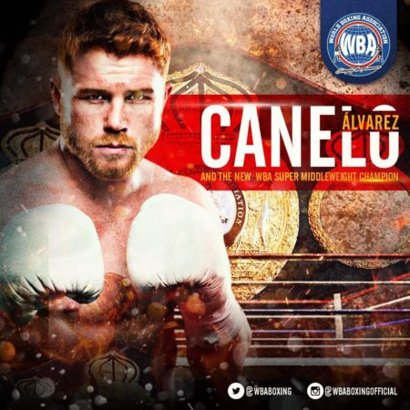 Canelo Alvarez, the champion of two WBA classes.