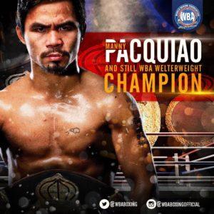 Manny Pacquiao – Boxeador del mes de enero 2019