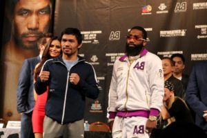 Pacquiao and Broner promise excitement at the MGM Grand in Las Vegas