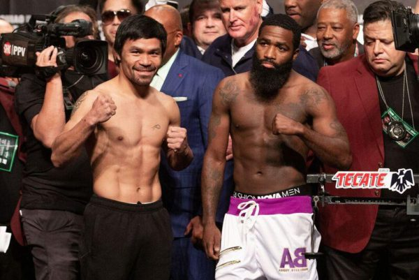 Pacquiao and Broner make weight, ready to square off in Las Vegas