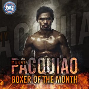 Pacquiao is the Boxer of the Month