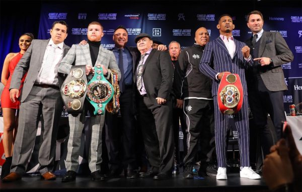 Canelo and Jacobs kick off promotional tour in New York