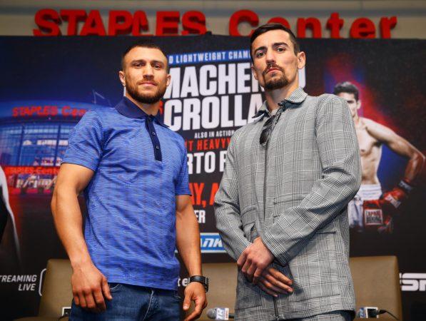 Lomachenko y Crolla tuvieron su última rueda de prensa en Los Ángeles