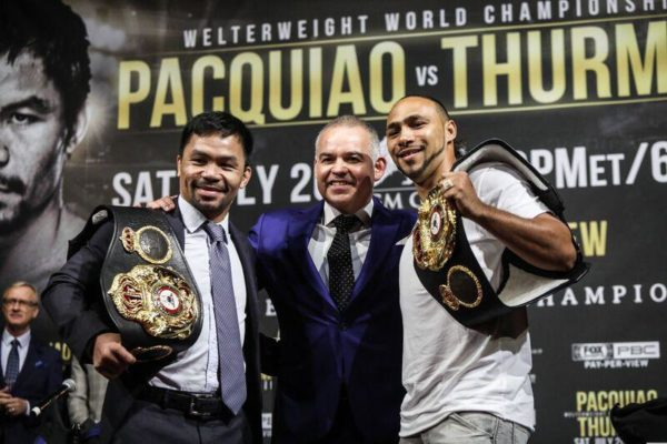 Pacquiao and Thurman kick off press tour in New York