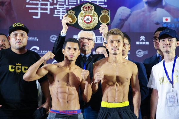 Weigh in Cañizales 107.69 vs Kimura 107.25