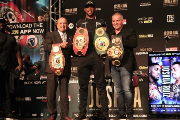 Anthony Joshua and Andy Ruiz create buzz at final presser