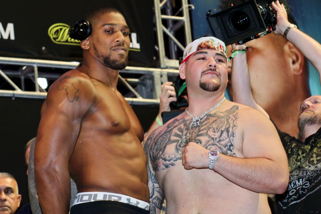 Weight In Joshua  247.8 vs Ruiz Jr 268