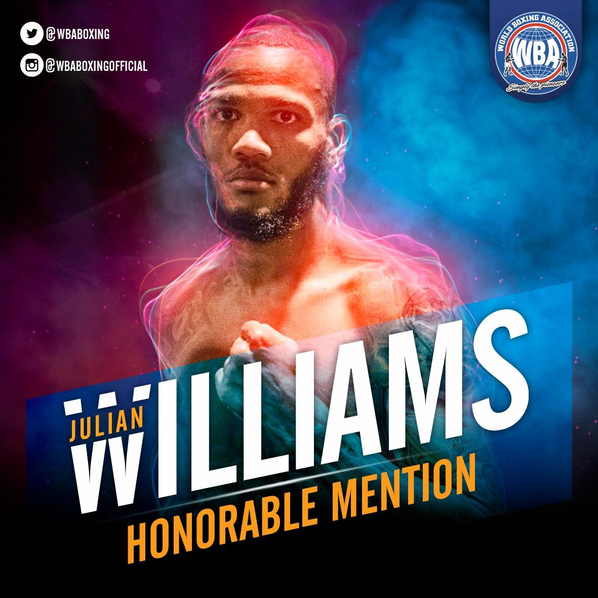 Julian Williams– Mención honorífica AMB – Mayo 2019