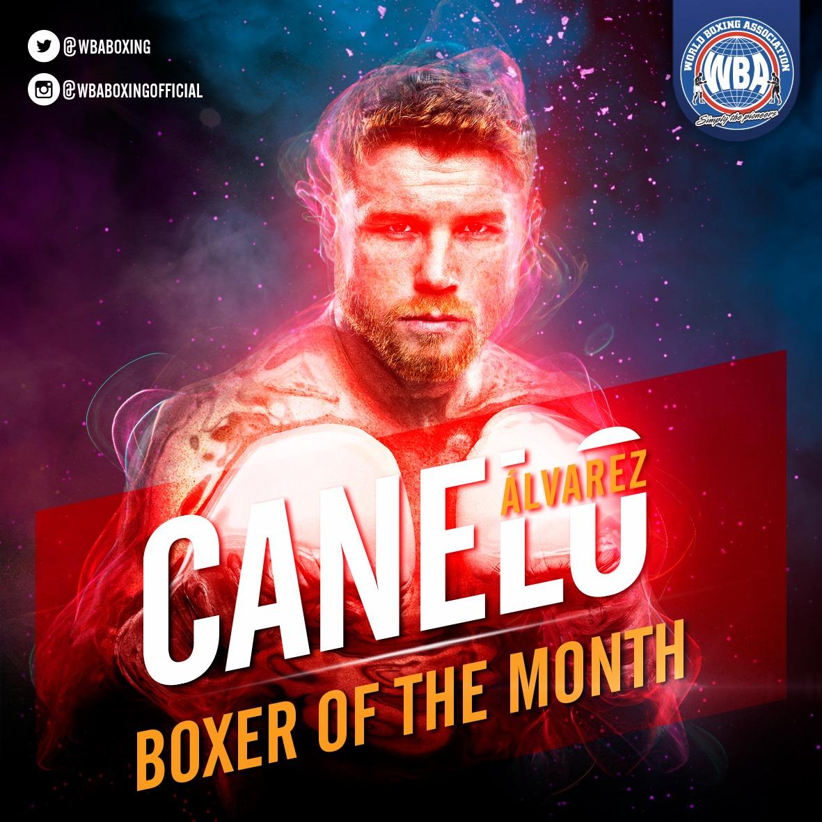 Canelo Álvarez– Boxeador del mes de mayo 2019