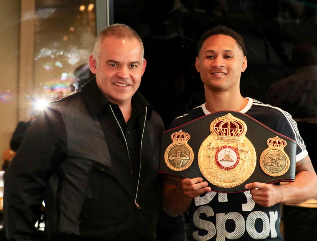 Prograis receives his WBA belt in The Big Apple
