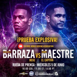 Promotion of Maestre vs Barraza arrives in Bogota