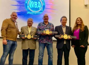 Christodoulou, Kim, and Fiengo are life members of the WBA