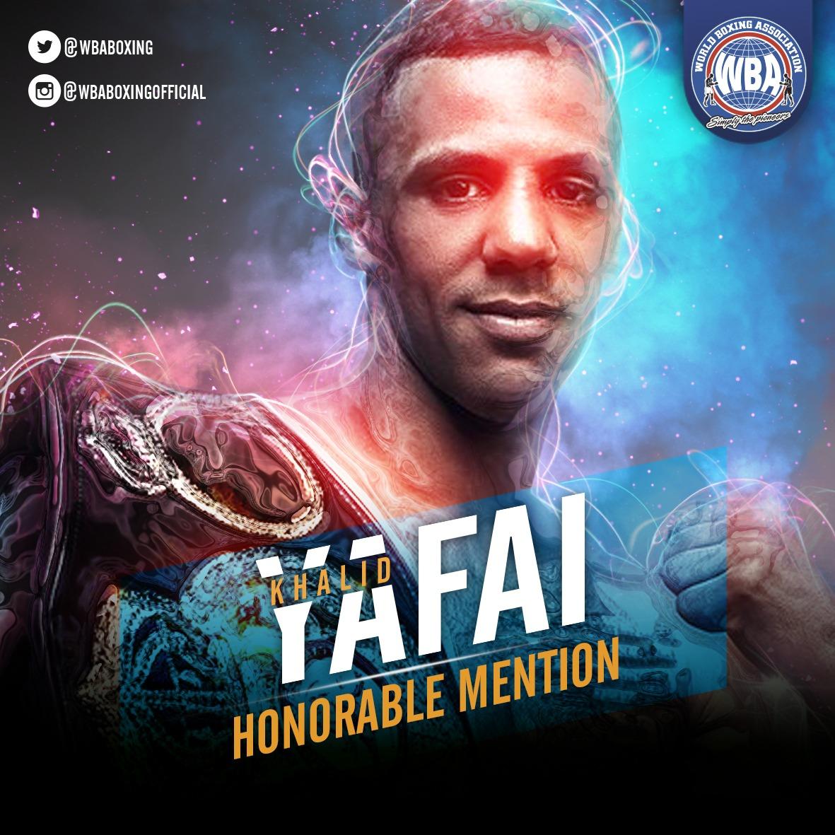 Khalid Yafai– WBA Honorable Mention June 2019