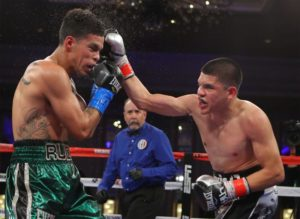 Diego De La Hoya and Ronny Rios square off for the WBA Gold Belt