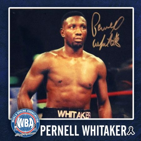 WBA regrets the death of Pernell Whitaker