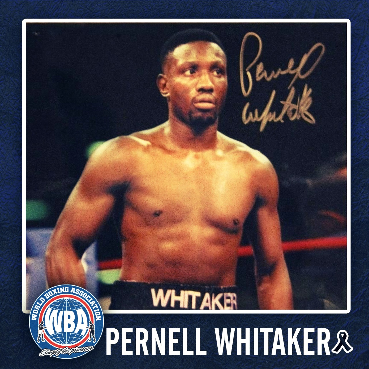 AMB lamenta la partida de Pernell Whitaker