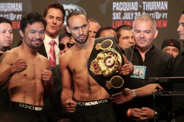 Weight In Pacquiao 146.5 lbs vs Thurman 146.5