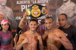 Weight In Puello 140 lbs vs Alonso 140