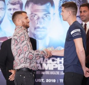 Lomachenko and Campbell face to face at press conference in London
