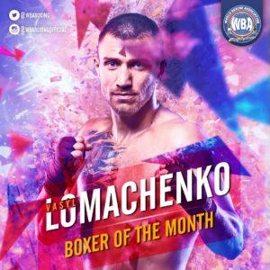 Vasyl Lomachenko- Boxeador del mes de agosto 2019