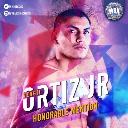 Vergil Ortiz Jr.– Mención honorífica AMB – Agosto 2019