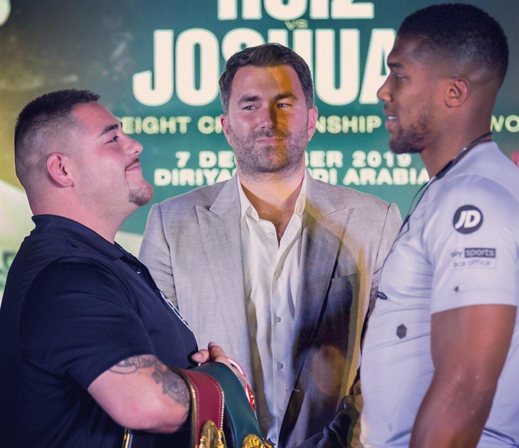 Ruiz vs Joshua was presented in Saudi Arabia