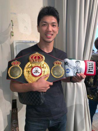 Murata receives custom belt in Tokyo