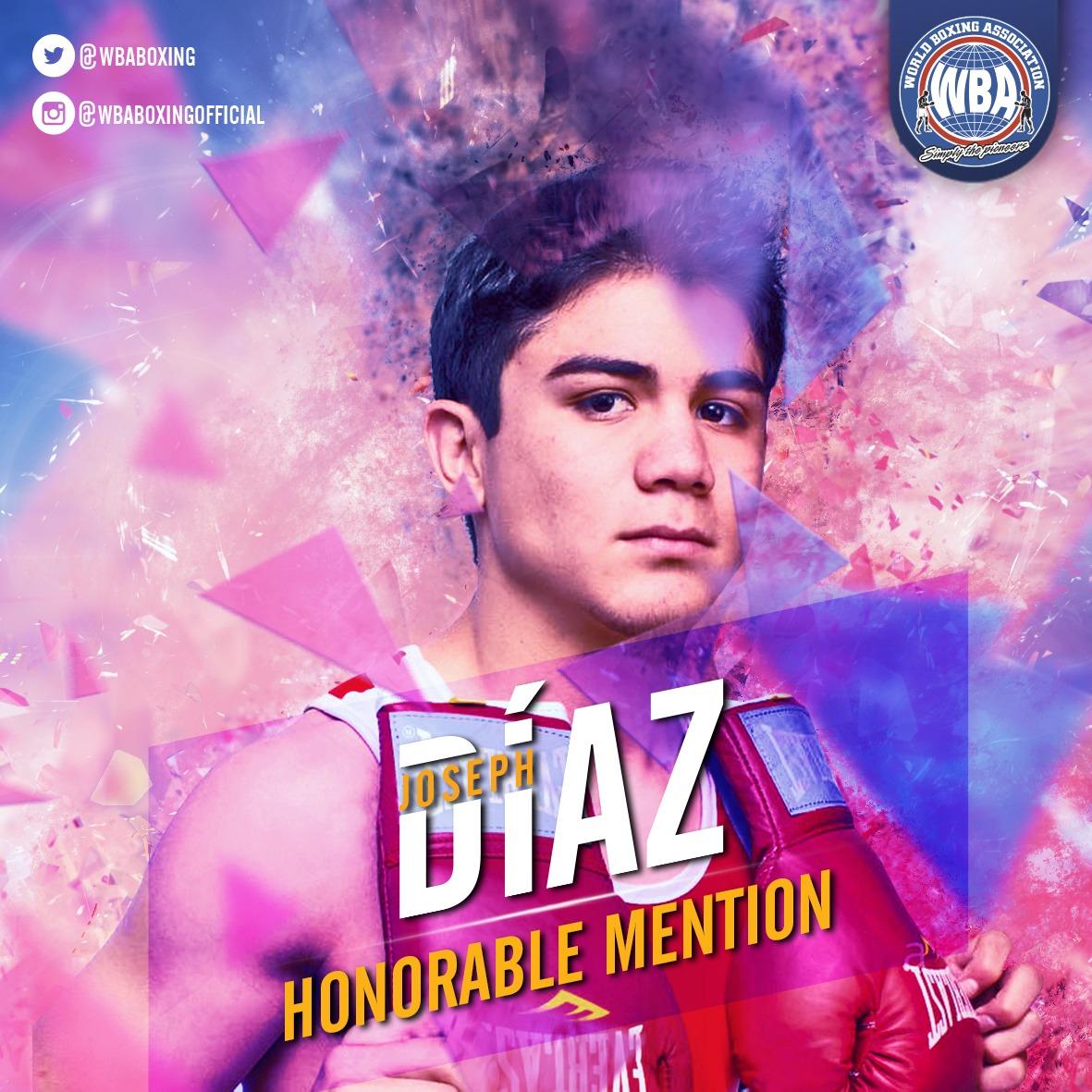 Joseph Diaz– WBA Honorable Mention september 2019