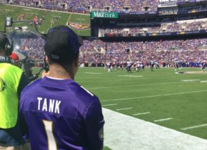 Gervonta Davis recognized at Baltimore Ravens game