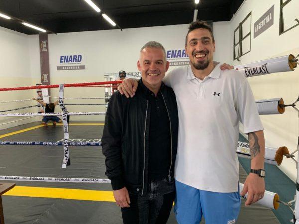 Gilberto Jesús Mendoza de visita en Argentina