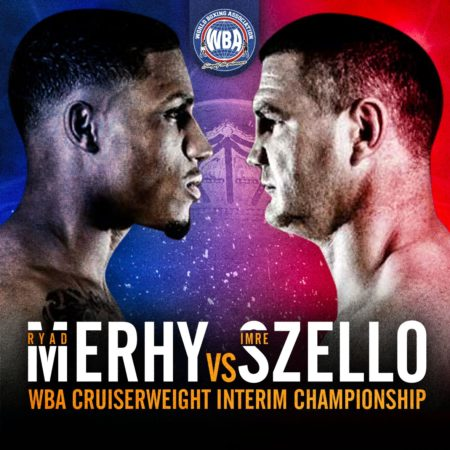 Merhy and Zsello will fight for the WBA Cruiserweight Interim Title this Saturday
