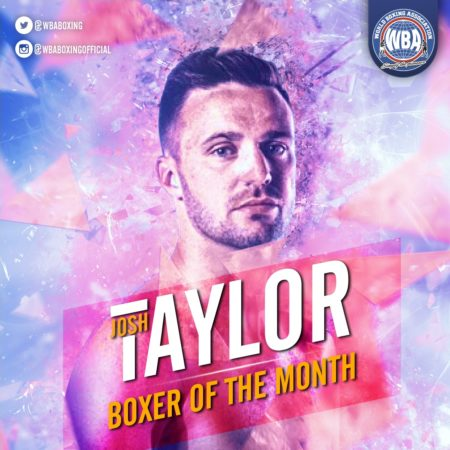 Josh Taylor– Boxer of the month October 2019