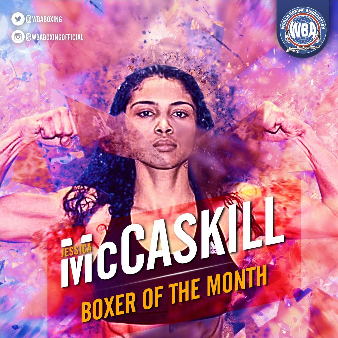 Jessica McCaskill es la Boxeadora del mes de octubre