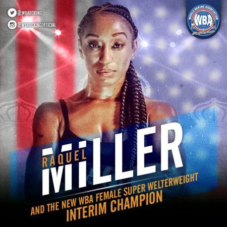 Raquel Miller wins the Interim WBA 154lb Title in Quebec