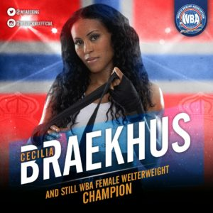 Cecilia Braekhus retains title with emphatic win over Bustos