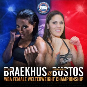 Cecilia Braekhus and Bustos are fighting for the undisputed title this Saturday
