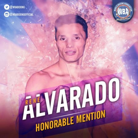 Rene Alvarado– WBA Honorable Mention November 2019