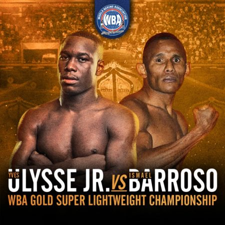 Ulysse Jr. faces Barroso for the WBA Gold title this Thursday