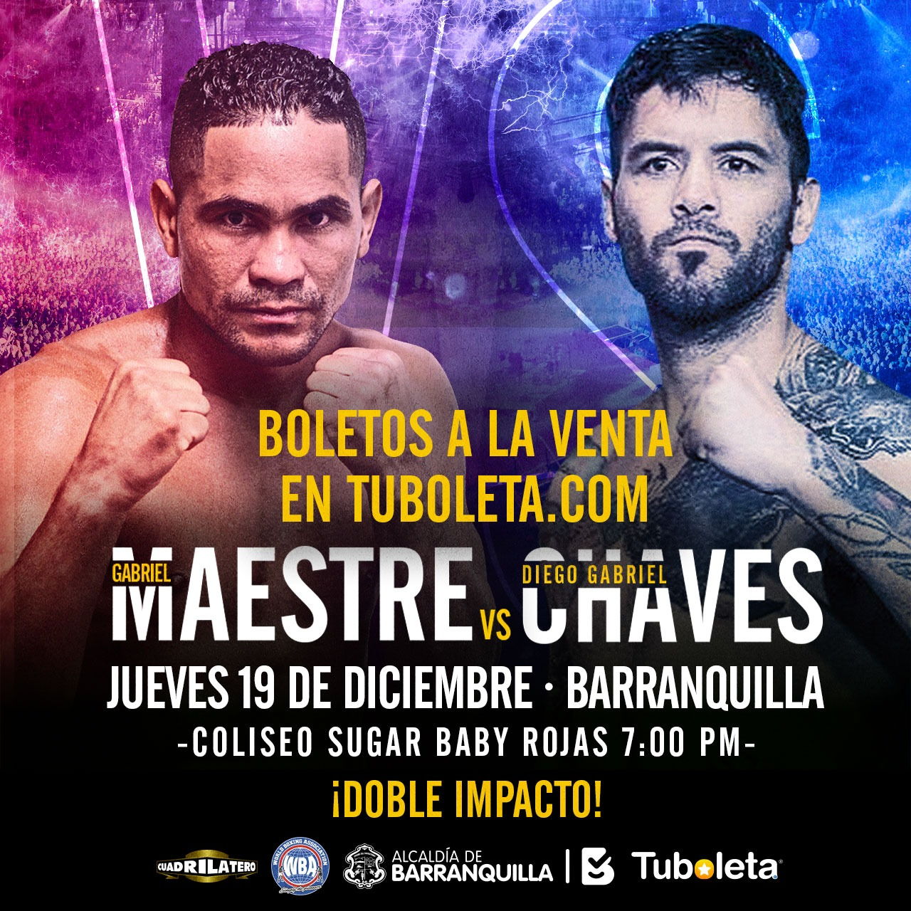 """Doble Impacto"" will paralyze Barranquilla with Maestre-Chaves as main event"